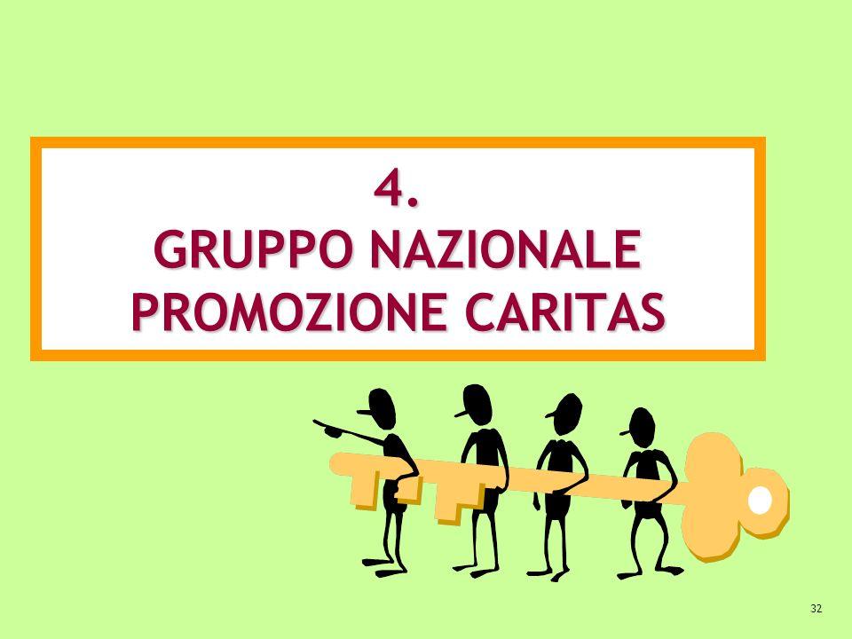 4. GRUPPO NAZIONALE PROMOZIONE CARITAS
