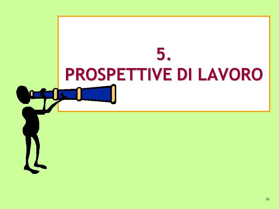 5. PROSPETTIVE DI LAVORO