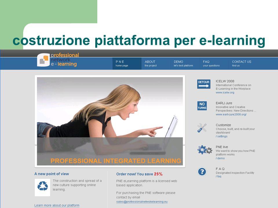 costruzione piattaforma per e-learning