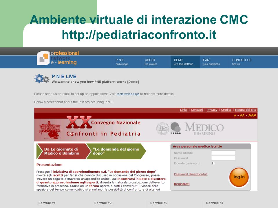Ambiente virtuale di interazione CMC http://pediatriaconfronto.it