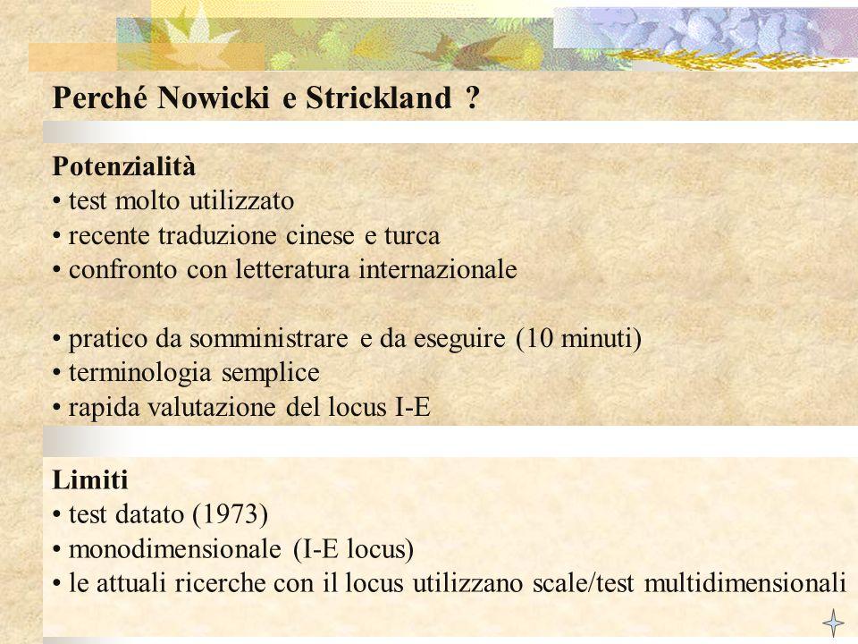 Perché Nowicki e Strickland