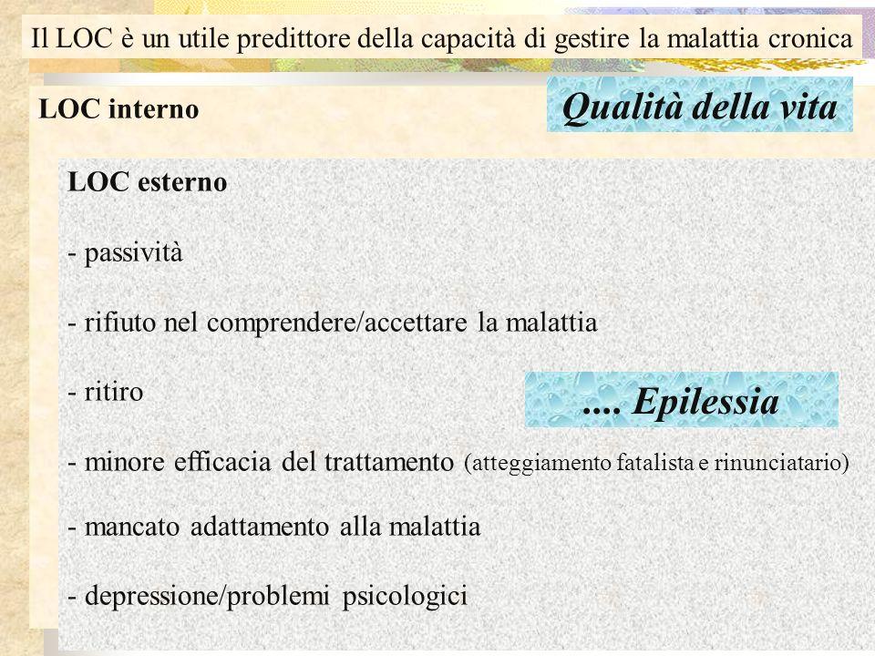 Qualità della vita .... Epilessia