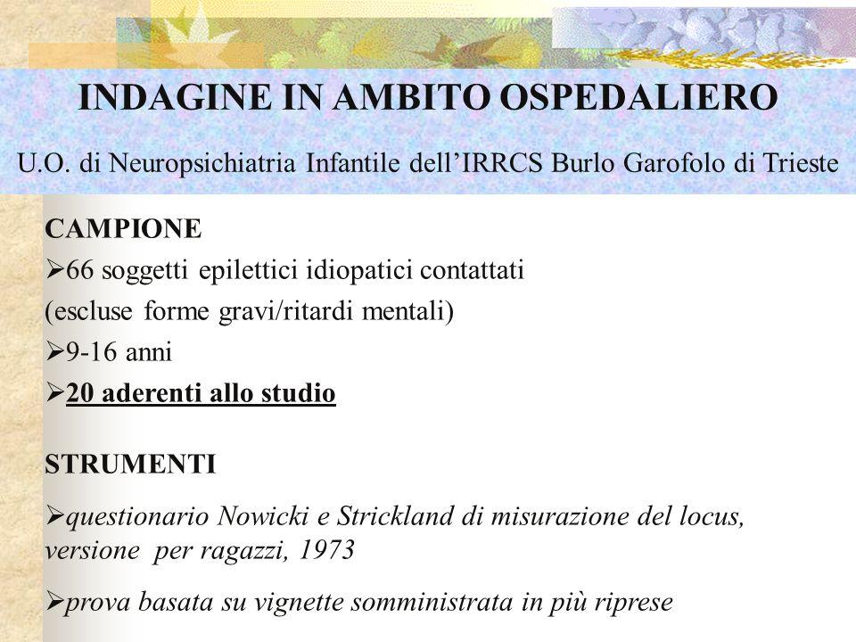 INDAGINE IN AMBITO OSPEDALIERO