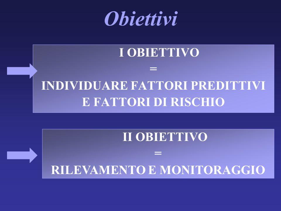 INDIVIDUARE FATTORI PREDITTIVI RILEVAMENTO E MONITORAGGIO