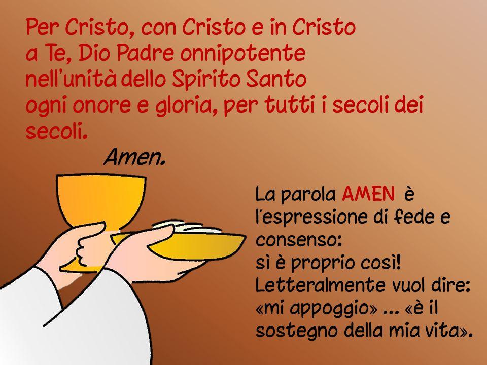 Per Cristo, con Cristo e in Cristo a Te, Dio Padre onnipotente
