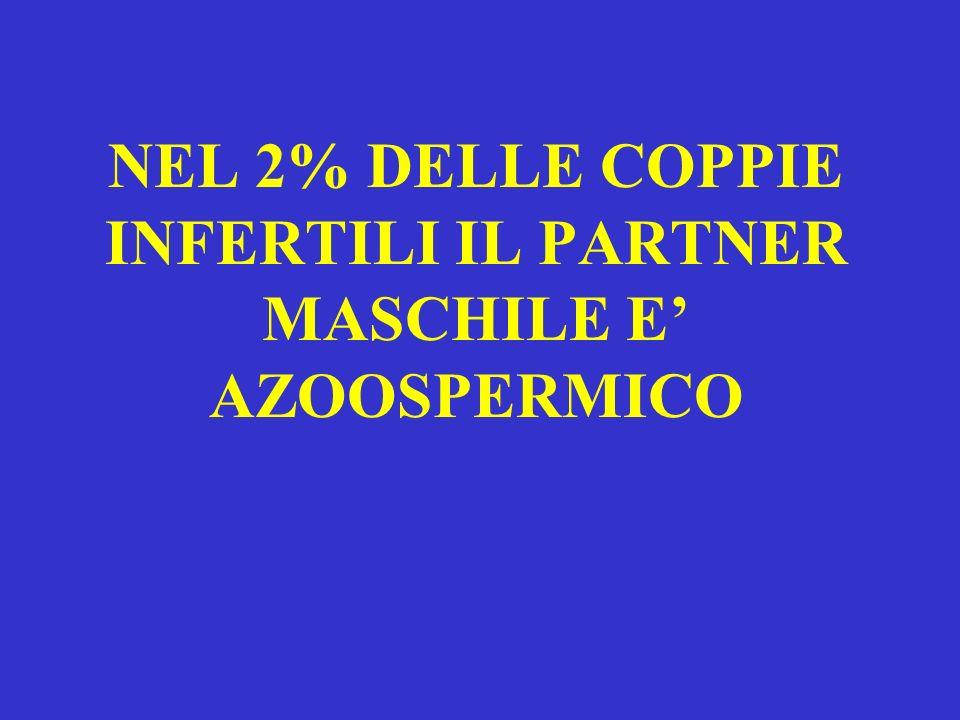 NEL 2% DELLE COPPIE INFERTILI IL PARTNER MASCHILE E' AZOOSPERMICO