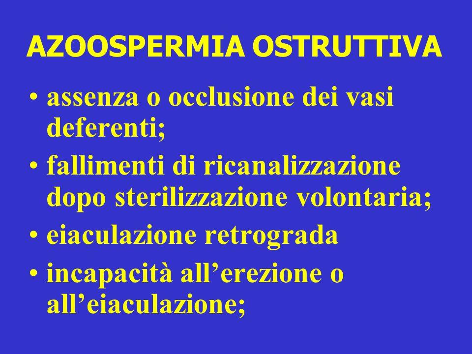 AZOOSPERMIA OSTRUTTIVA