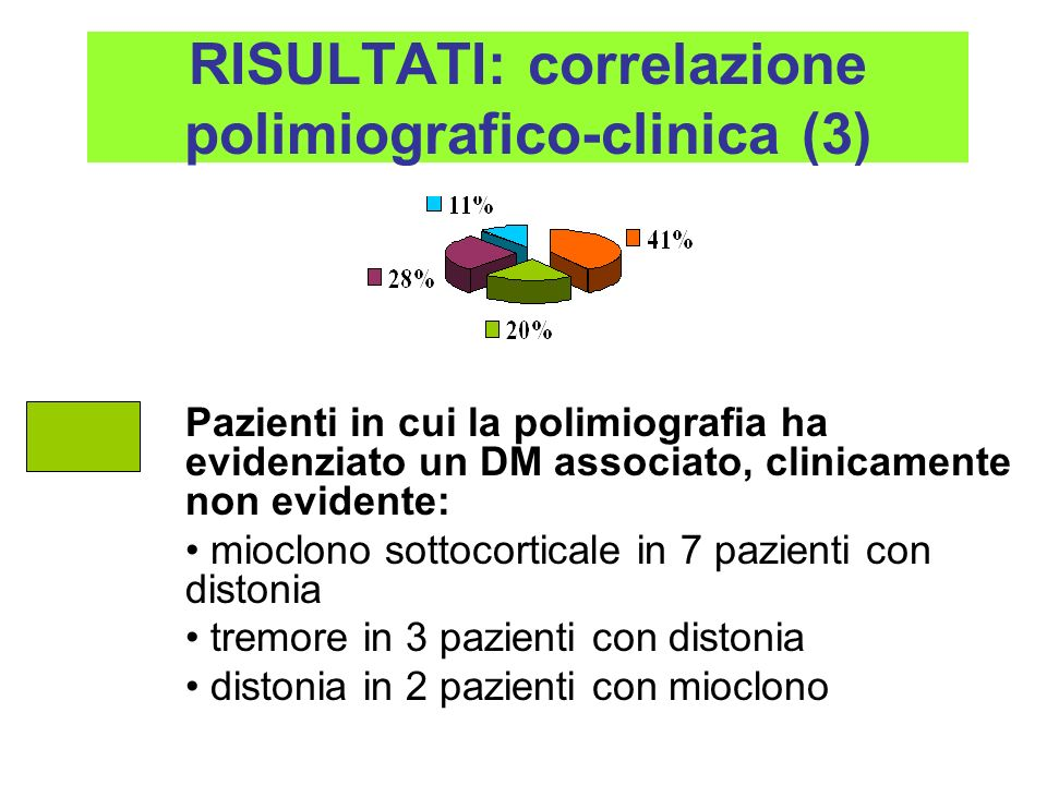 RISULTATI: correlazione polimiografico-clinica (3)