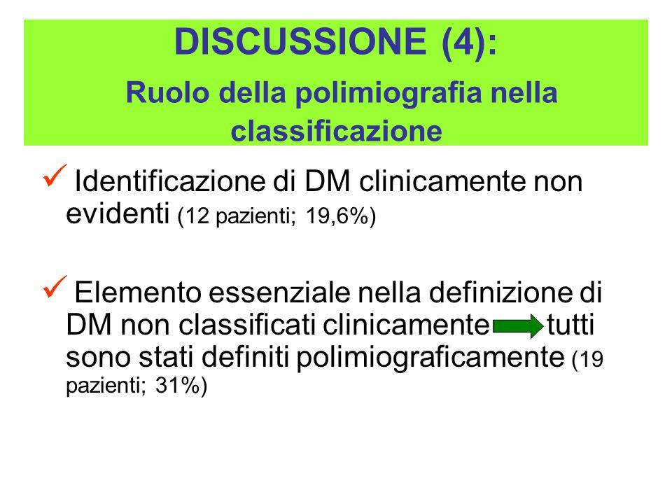 DISCUSSIONE (4): Ruolo della polimiografia nella classificazione