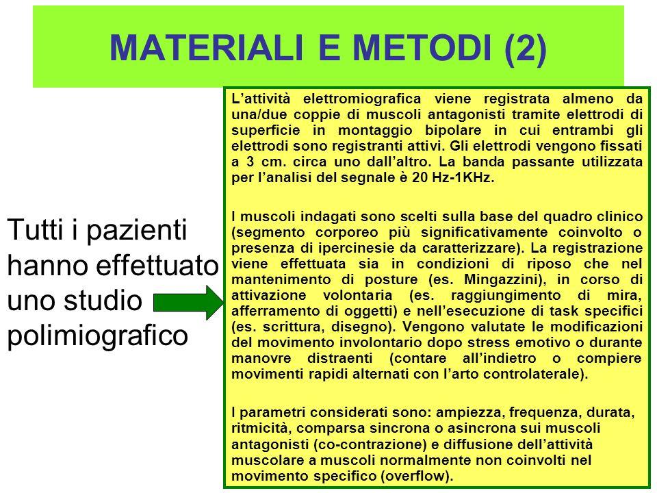 MATERIALI E METODI (2)