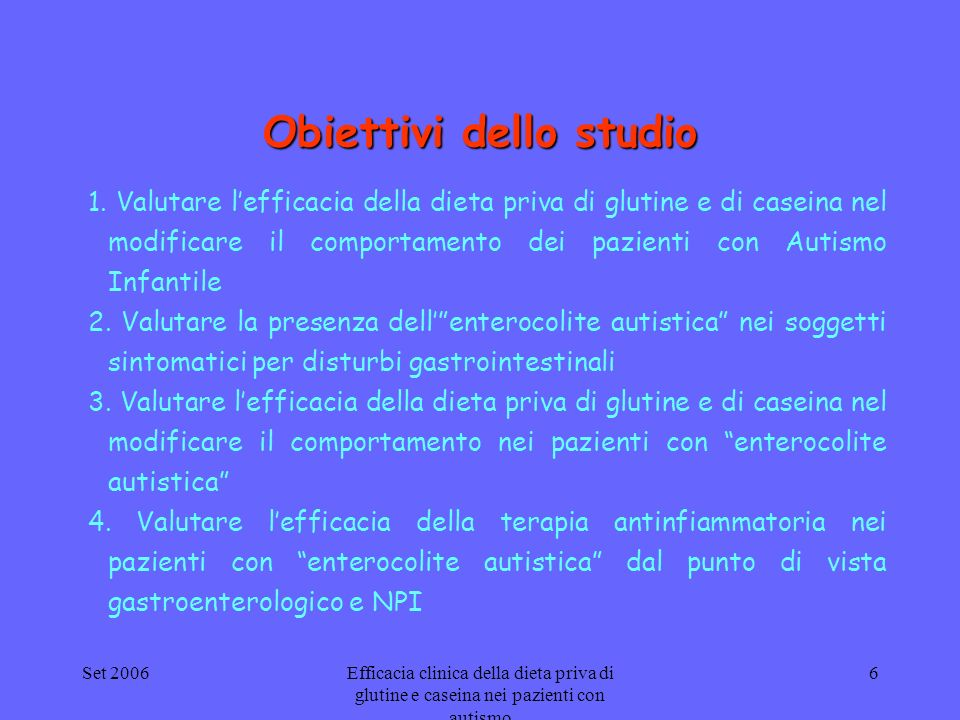 Obiettivi dello studio
