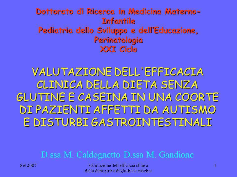 D.ssa M. Caldognetto D.ssa M. Gandione