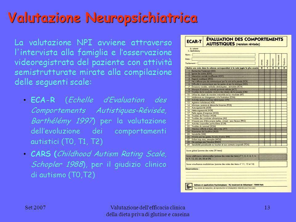 Valutazione Neuropsichiatrica