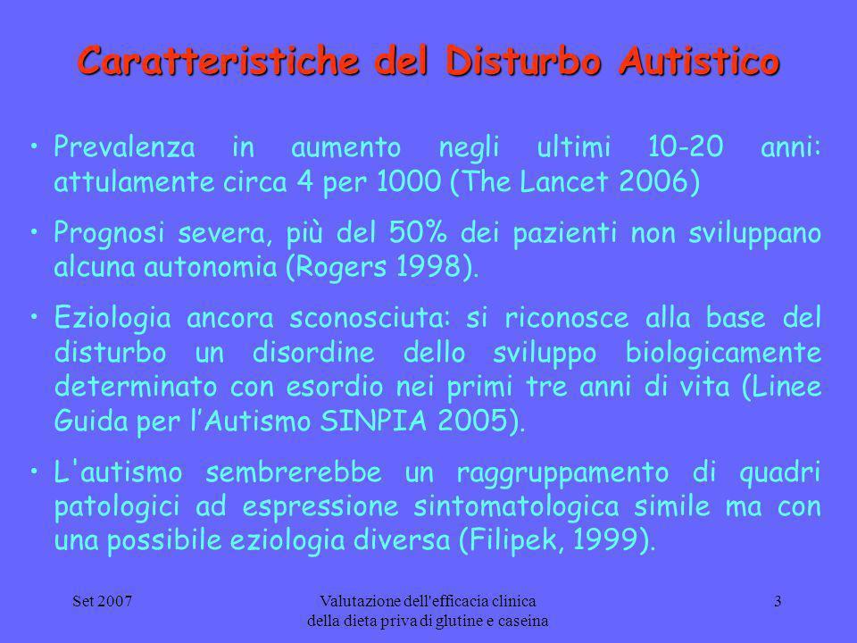 Caratteristiche del Disturbo Autistico