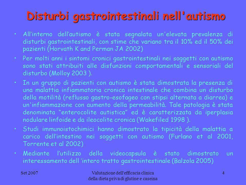 Disturbi gastrointestinali nell autismo