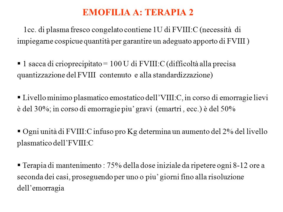 EMOFILIA A: TERAPIA 2
