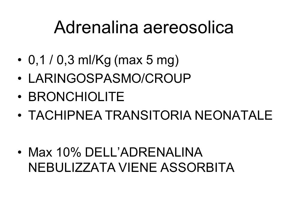 Adrenalina aereosolica