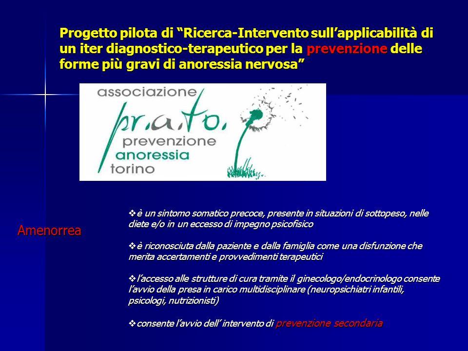 Progetto pilota di Ricerca-Intervento sull'applicabilità di un iter diagnostico-terapeutico per la prevenzione delle forme più gravi di anoressia nervosa
