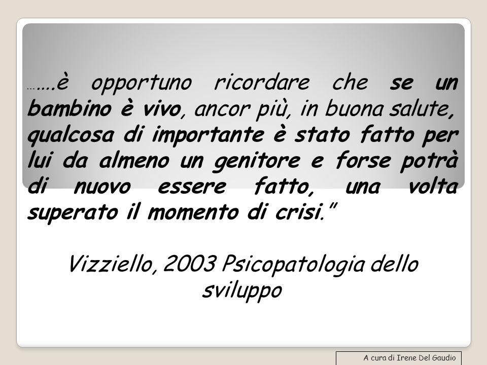Vizziello, 2003 Psicopatologia dello sviluppo
