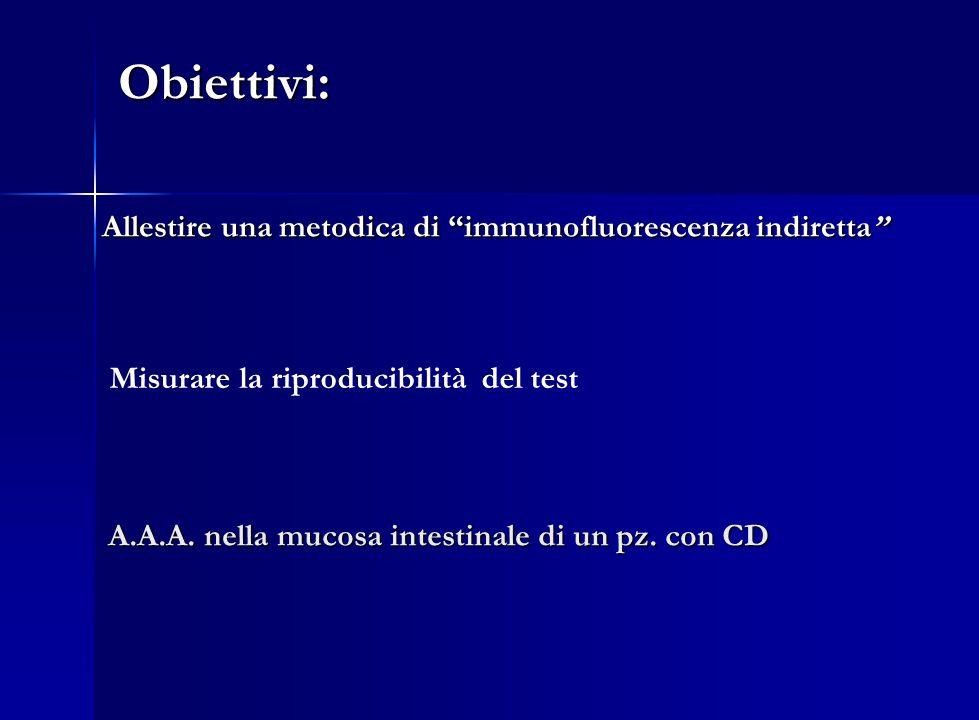 Obiettivi: Allestire una metodica di immunofluorescenza indiretta