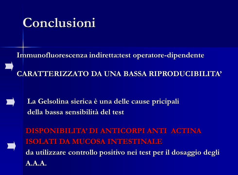 Conclusioni Immunofluorescenza indiretta:test operatore-dipendente