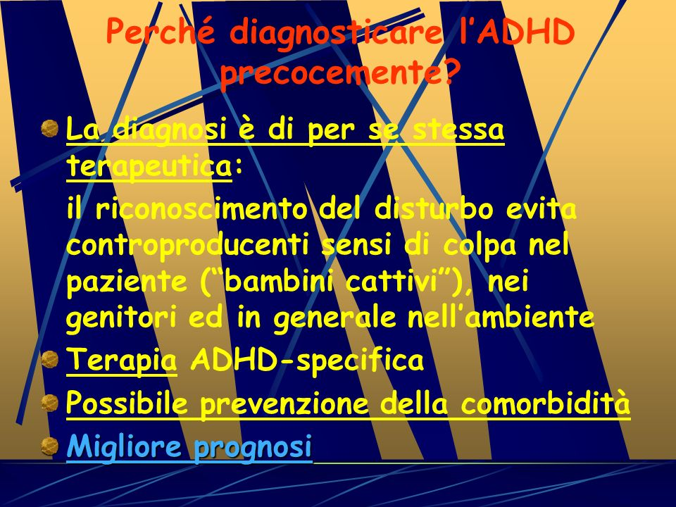Perché diagnosticare l'ADHD precocemente