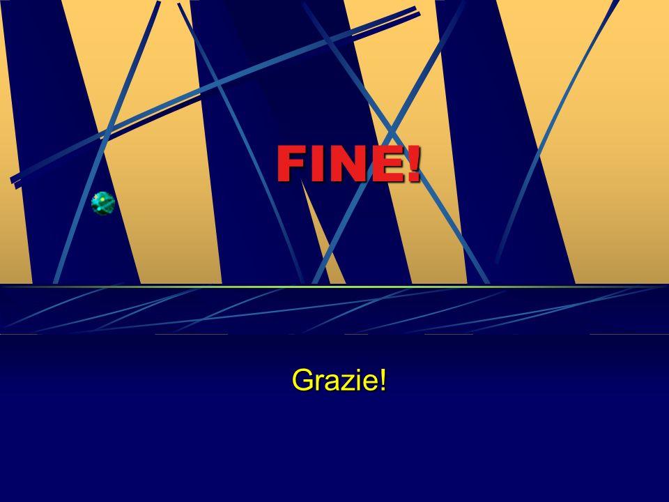FINE! Grazie!