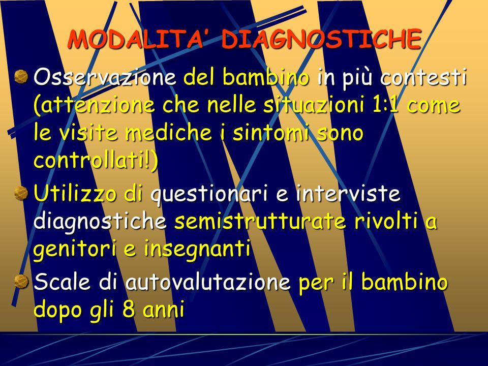 MODALITA' DIAGNOSTICHE