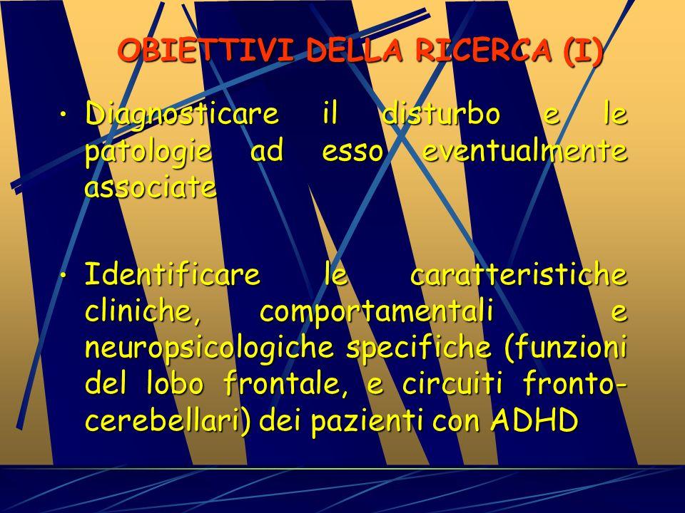 OBIETTIVI DELLA RICERCA (I)