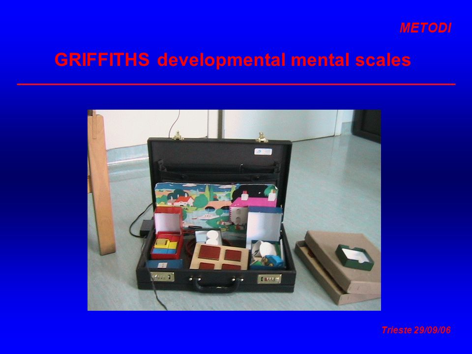 GRIFFITHS developmental mental scales