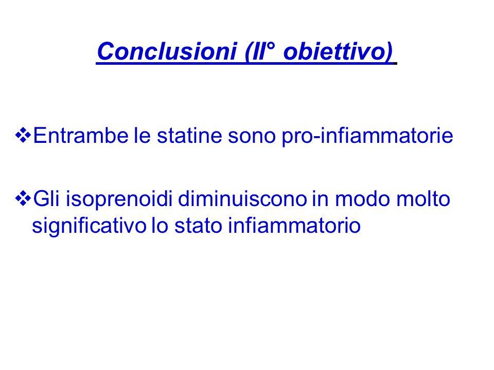 Conclusioni (II° obiettivo)