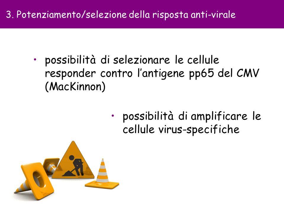 possibilità di amplificare le cellule virus-specifiche