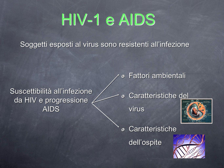 Suscettibilità all'infezione da HIV e progressione AIDS