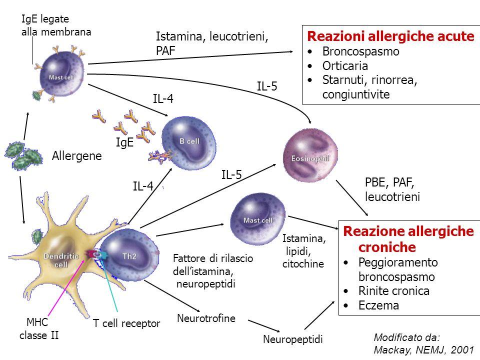 Reazioni allergiche acute