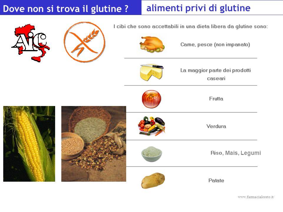 Alimenti privi di glutine