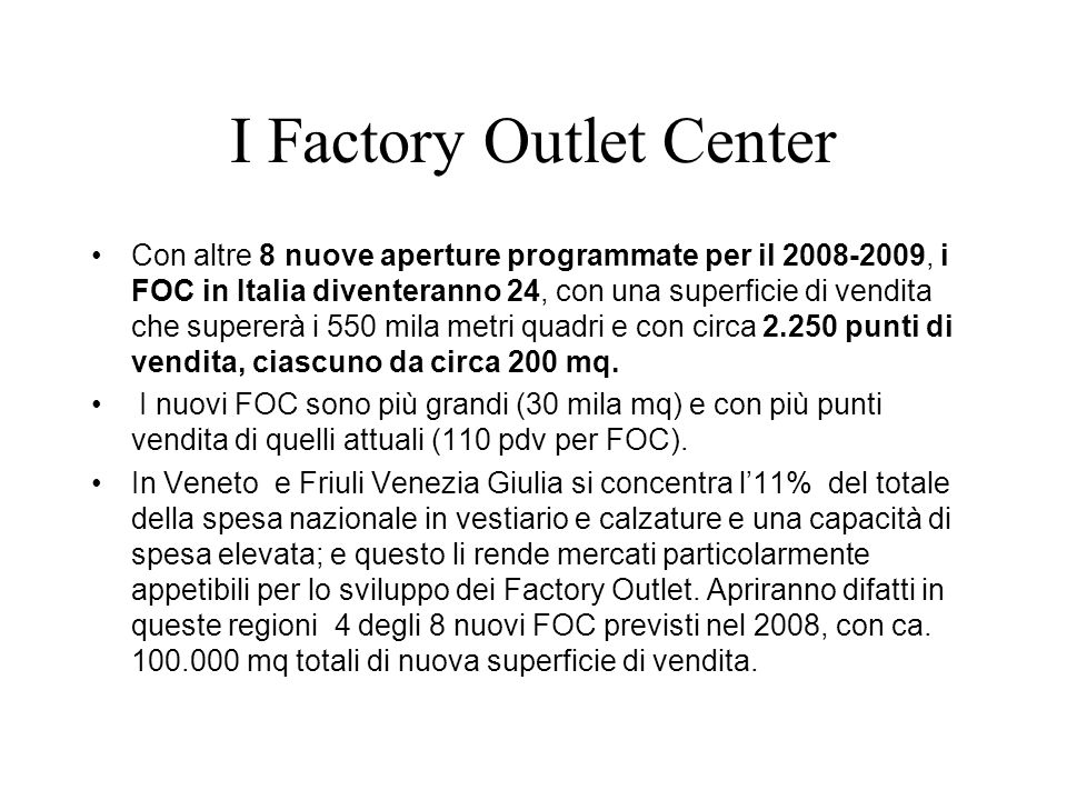 I Factory Outlet Center