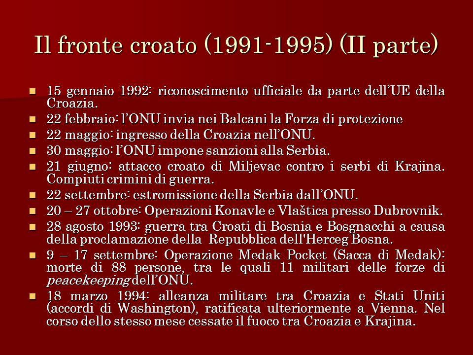 Il fronte croato (1991-1995) (II parte)
