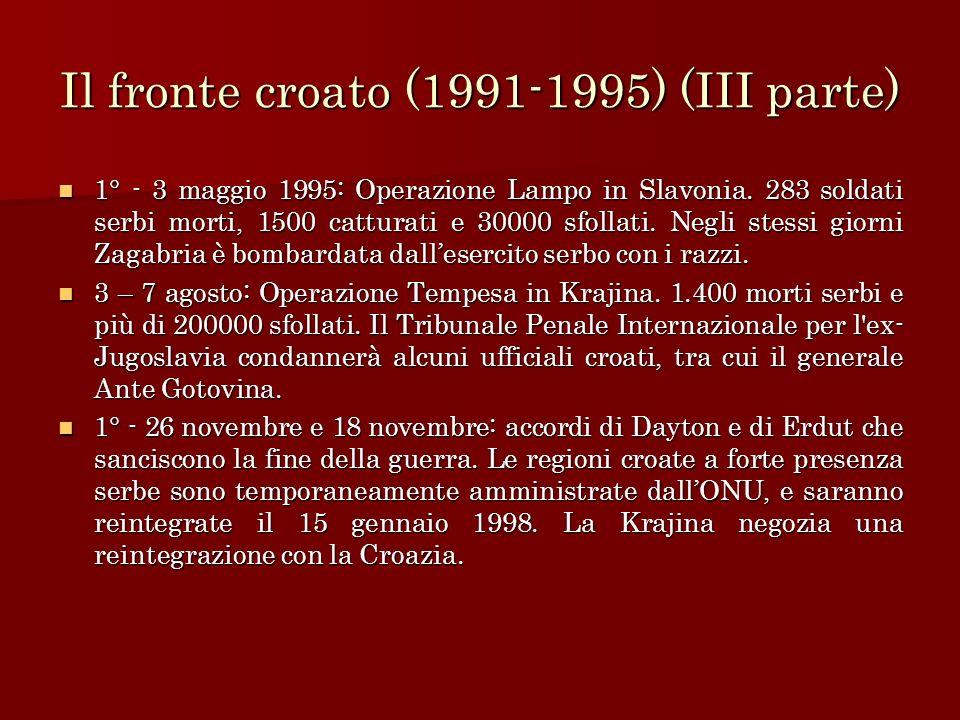 Il fronte croato (1991-1995) (III parte)