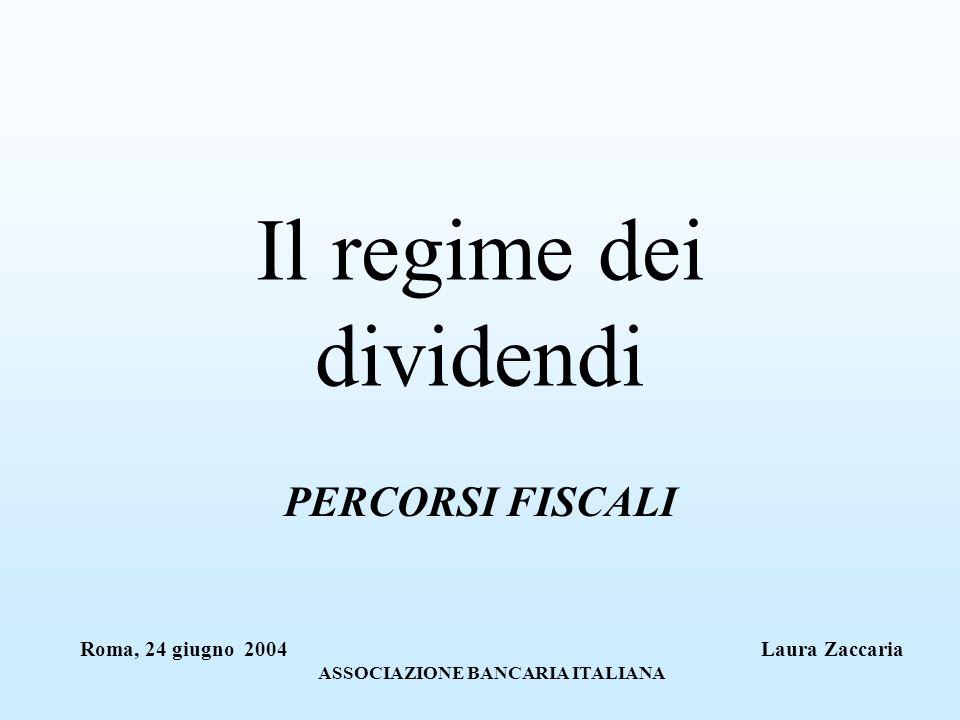 Il regime dei dividendi