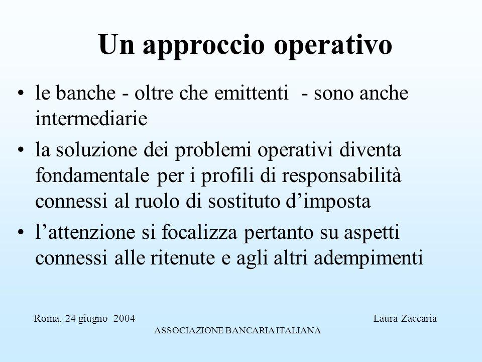 Un approccio operativo