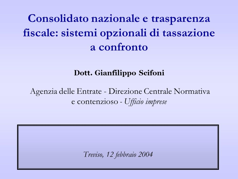 Treviso - 12 febbraio 2004 Treviso, 12 febbraio 2004