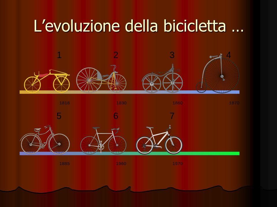 L'evoluzione della bicicletta …