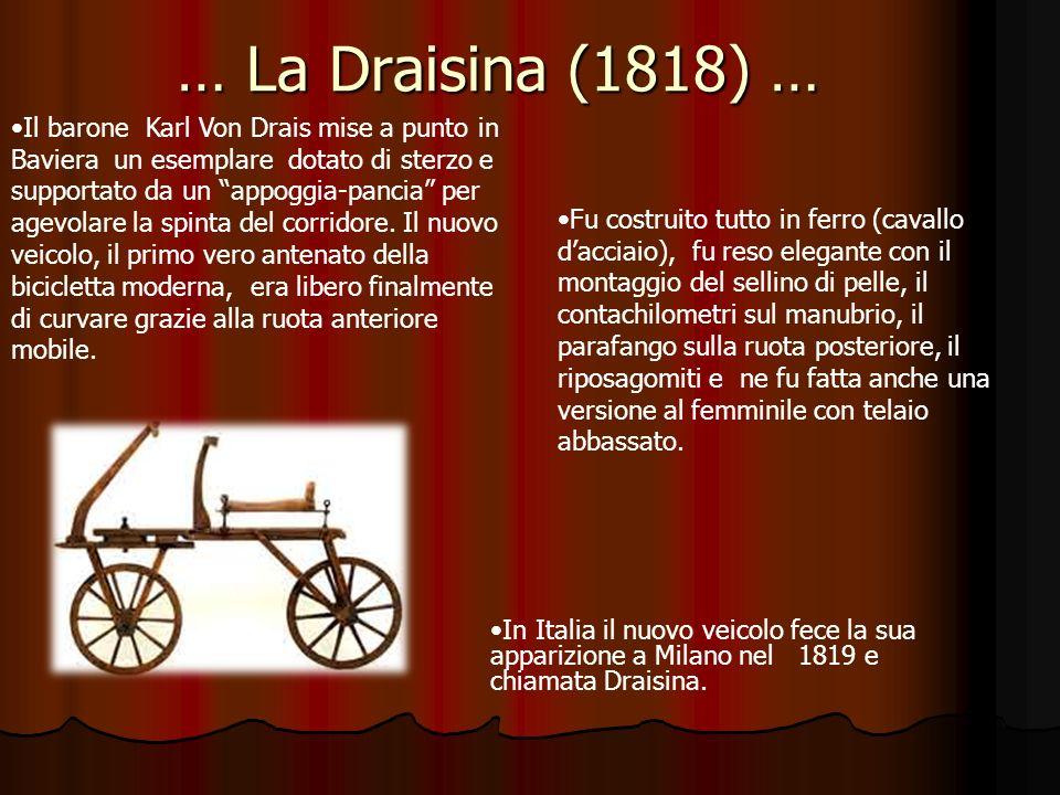 … La Draisina (1818) …