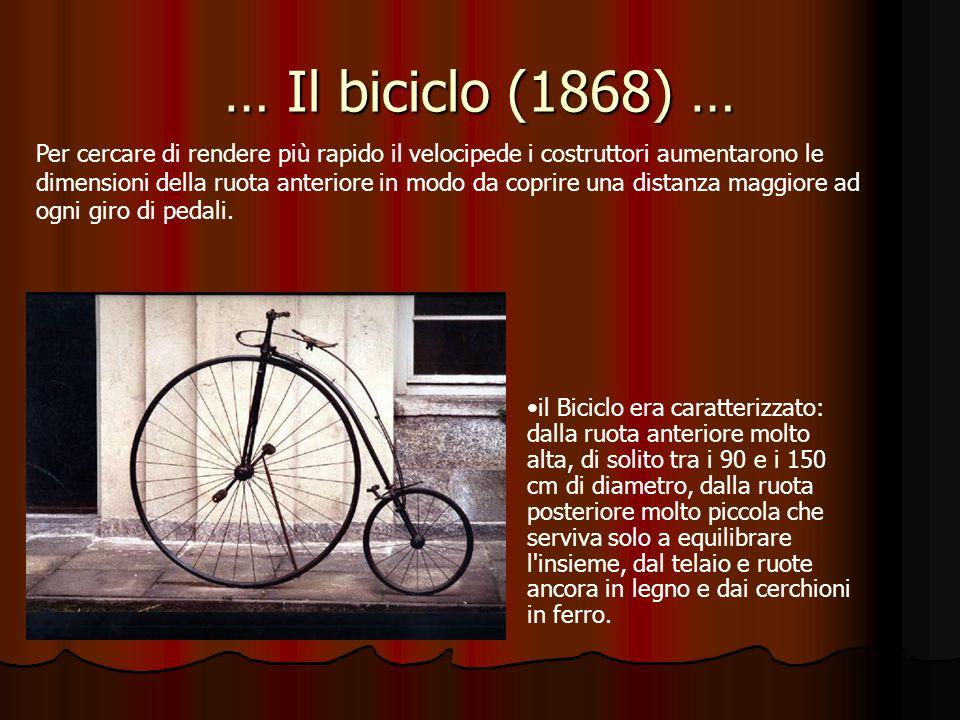 … Il biciclo (1868) …