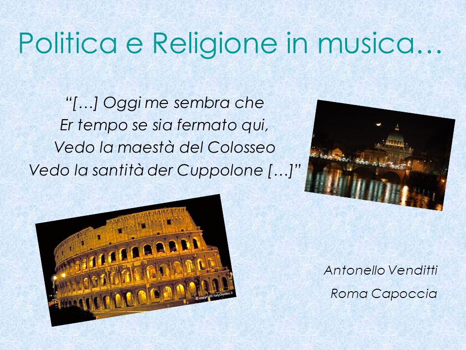 Politica e Religione in musica…