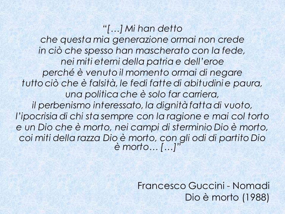 Francesco Guccini - Nomadi Dio è morto (1988)