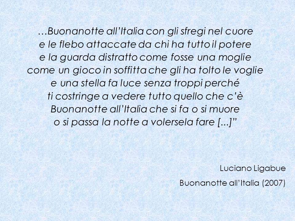 …Buonanotte all'Italia con gli sfregi nel cuore