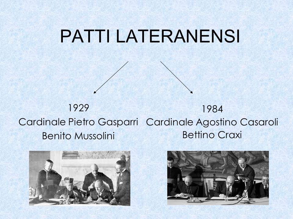 PATTI LATERANENSI 1929 1984 Cardinale Pietro Gasparri