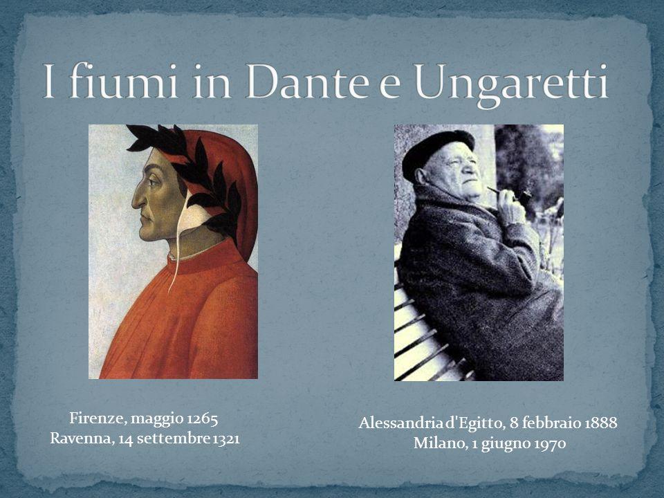 I fiumi in Dante e Ungaretti
