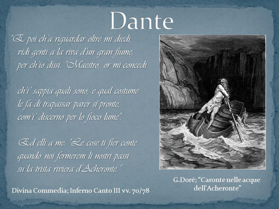 G.Doré; Caronte nelle acque